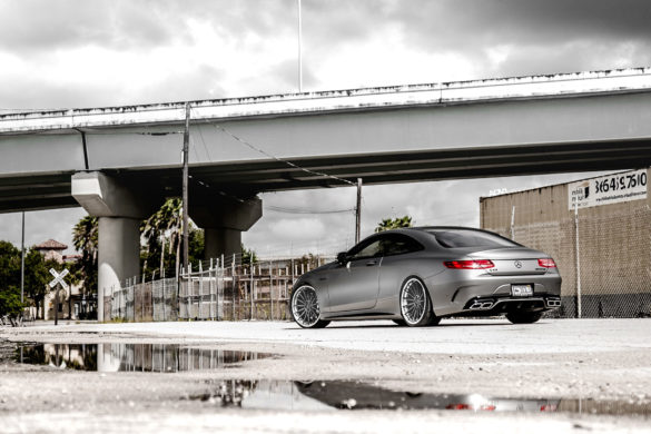 Matte Silver Mercedes-Benz S63 AMG Coupe - ADV15 Track Spec CS Wheels